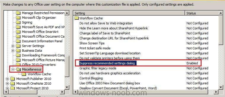 supress recommended settings dialog.jpg