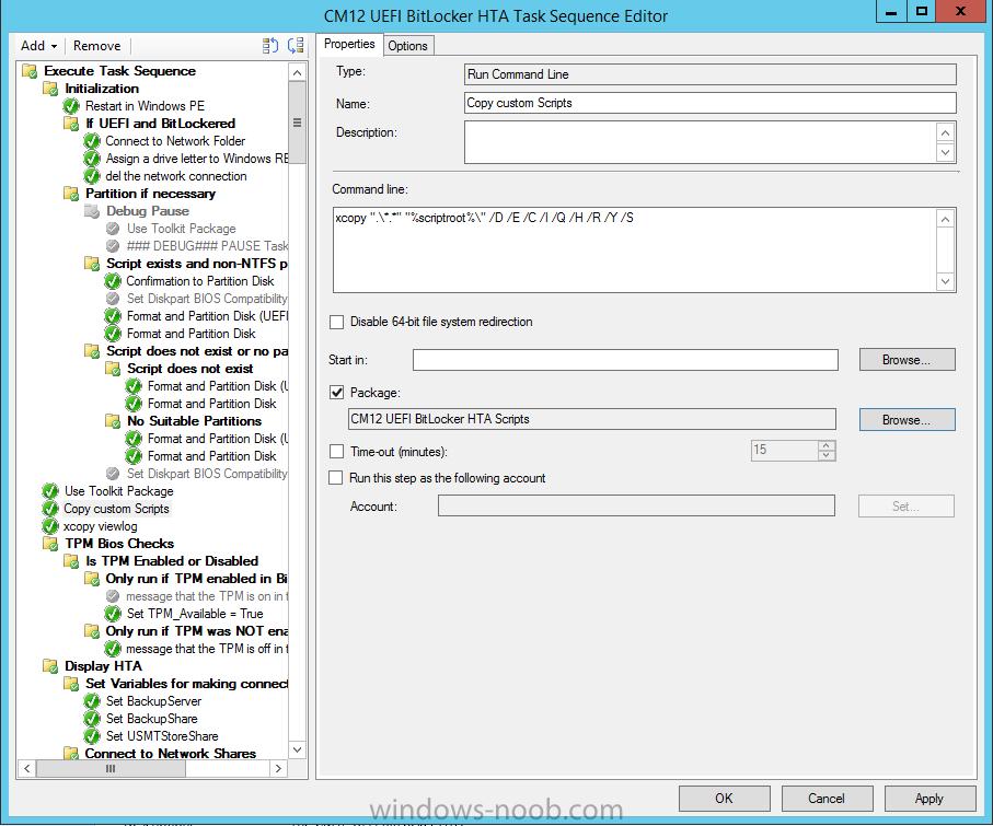The CM12 UEFI BitLocker Frontend HTA – Part 2  Installation