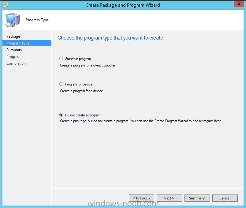 Do no create a program.png