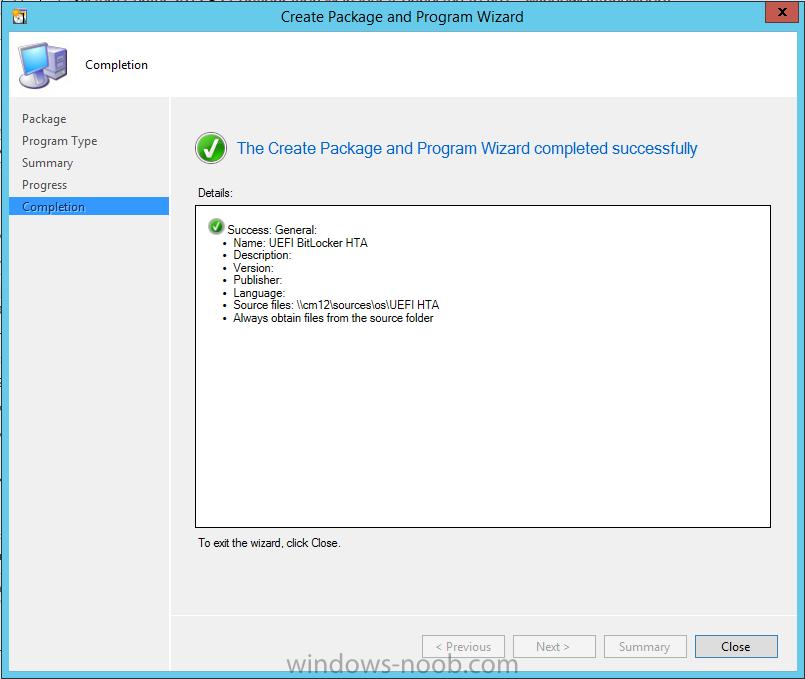 UEFI BitLocker HTA package created.png