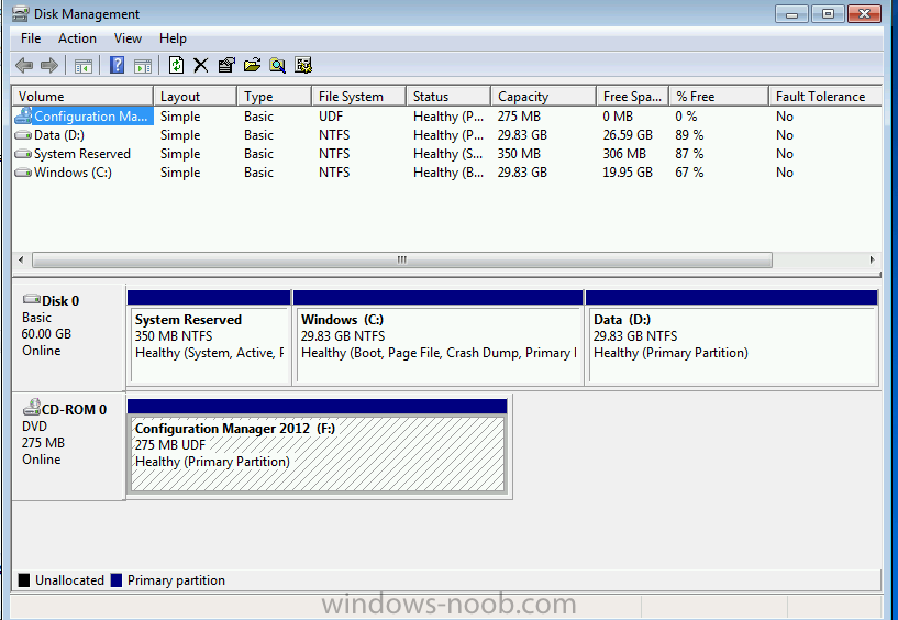 how to create partition windows 2012 setup