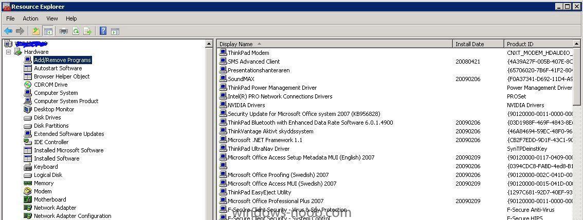 Resource Explorer Shortcut for sccm 2007 - Troubleshooting