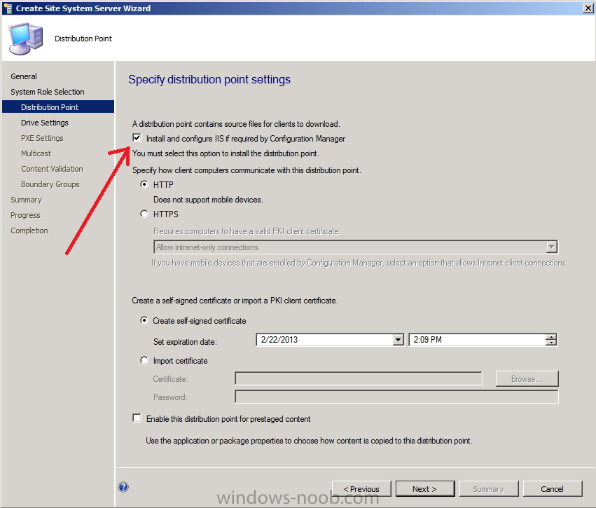 System center configuration manager 2012 install new for Windows distribution
