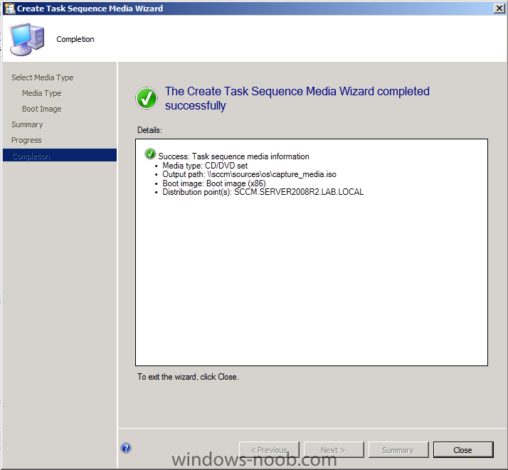 How can I capture an image using capture media in ConfigMgr