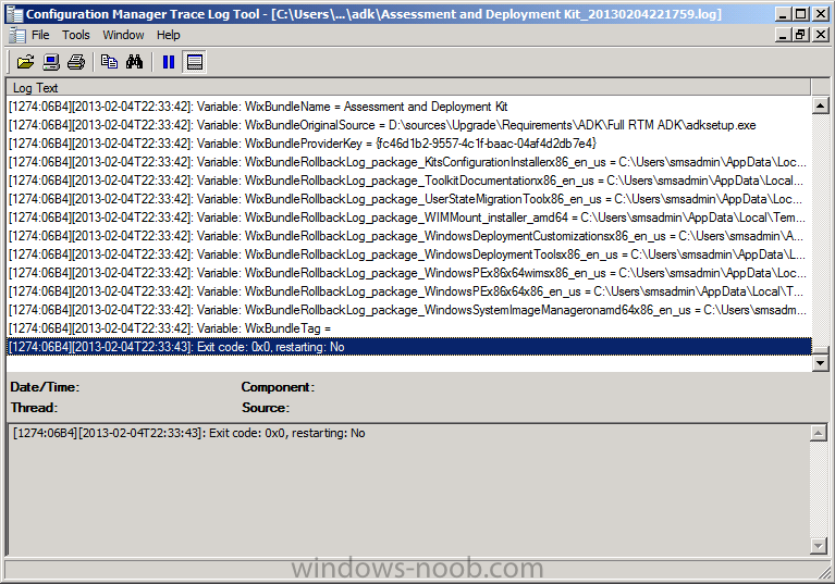 Assessment and Deployment Kit Log file.png