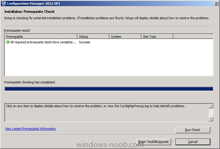 testdbupgrade installation prerequisite check.png