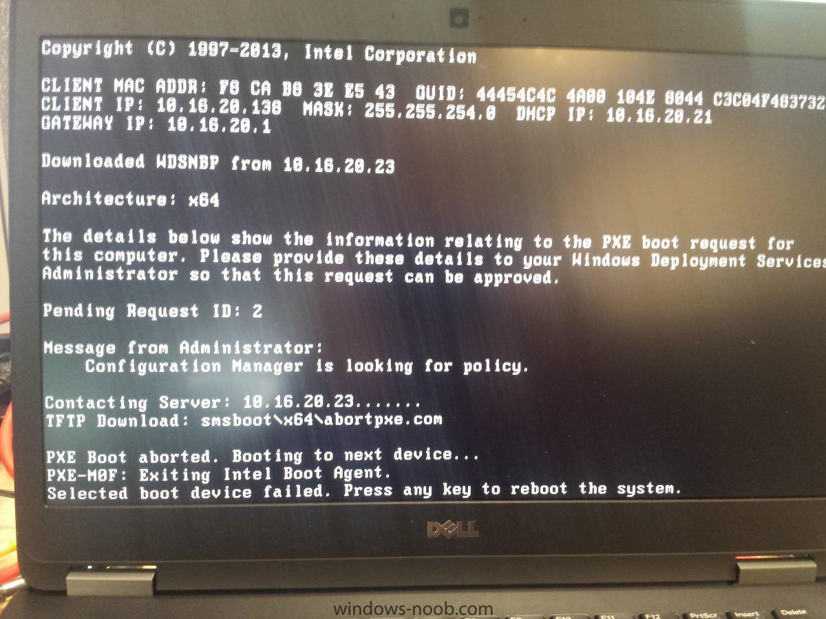 PXE Boot wont work after deploying ADK 10 boot images