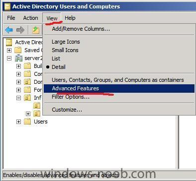 enable advanced features in active directory users and computers.jpg