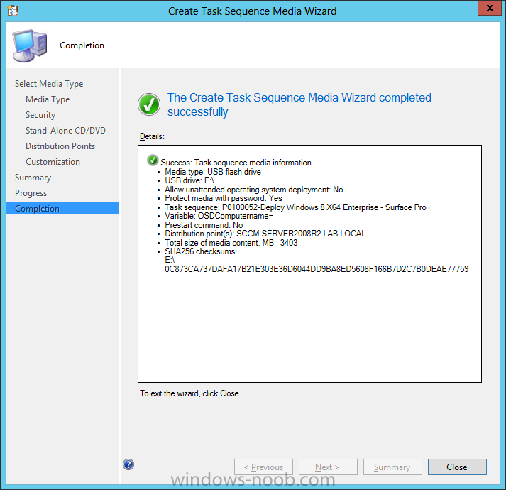 create task sequence media wizard completed successfully.png