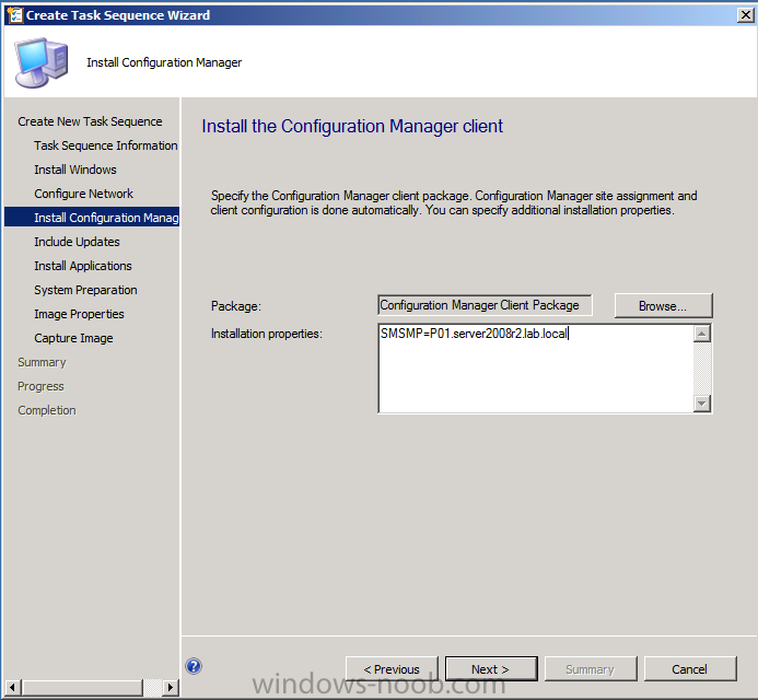 install application followed by regedit sccm 2012