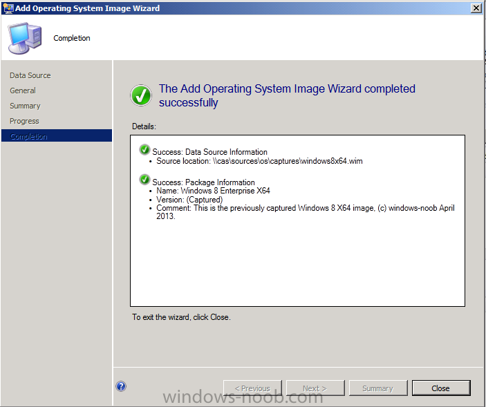 add operating system image completed.png