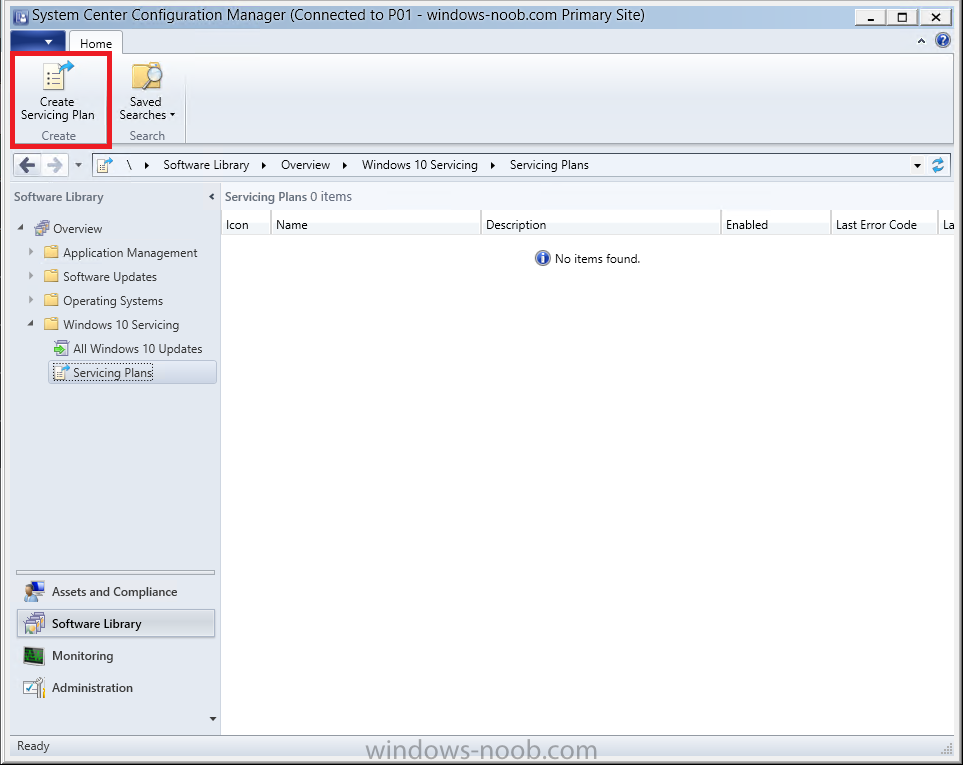 How can I use servicing plans in System Center Configuration