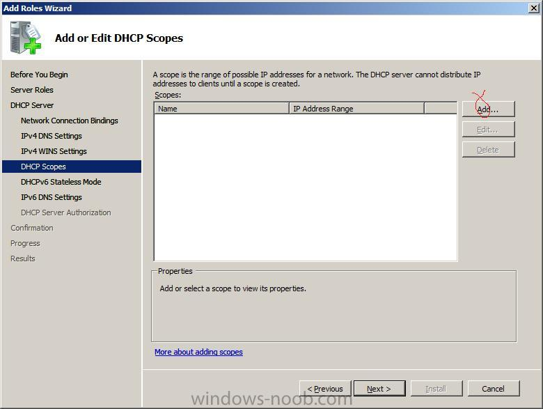 adding a scope to windows 2008 How do i (can i) expand scope in dhcp server to use all available ips  if i were changing the subnet or adding a new one, i'd have to create a new scope, or delete .