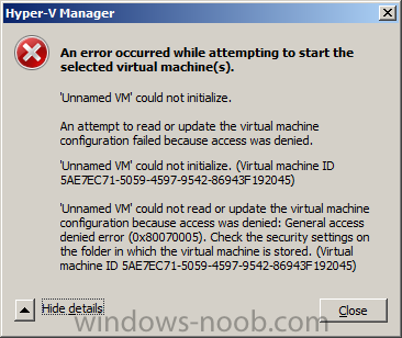 copied your VHD's to new HDD but cannot start them now