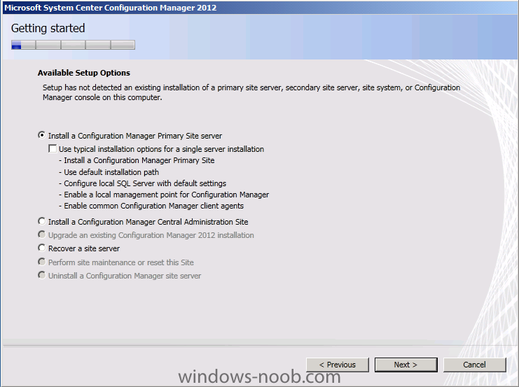 install a configuration manager primary server.png