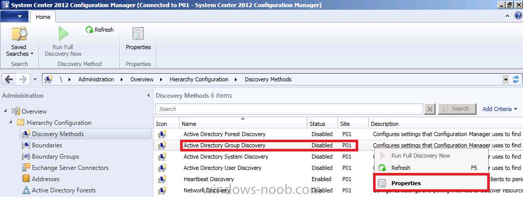 properties of active directory group discovery.png