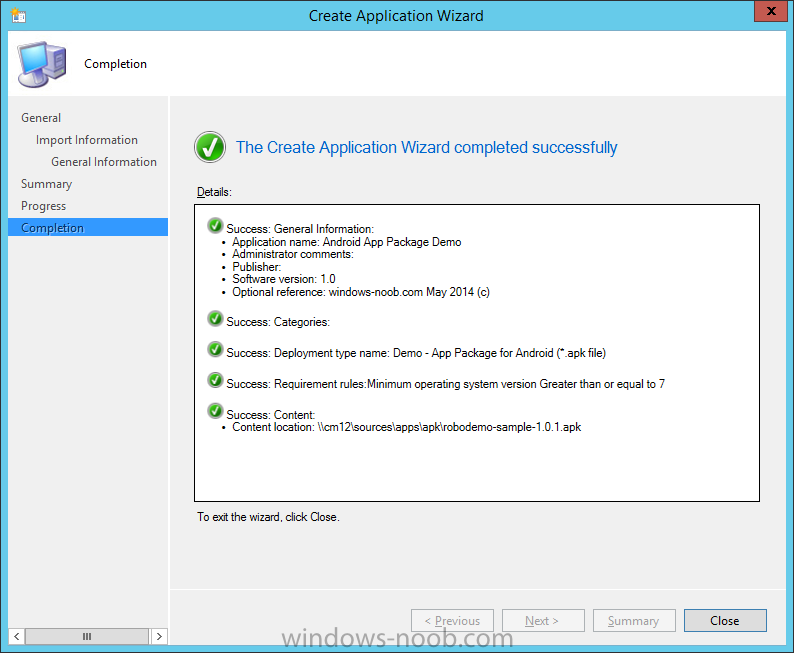 create application wizard complete.png
