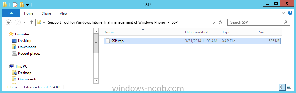 The SSP app is included in the support tool for windows Intune Trial Management.png