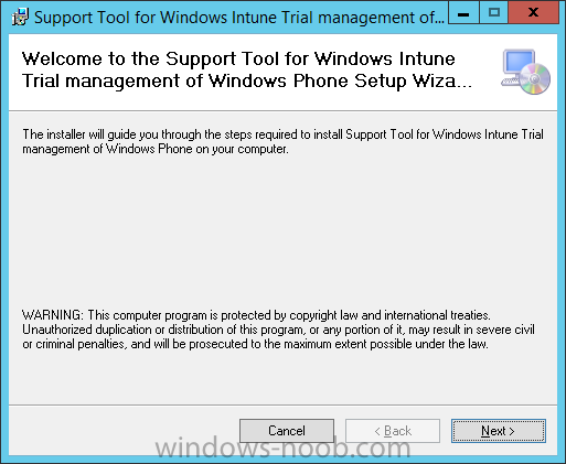 Welcome to the support tool for Windows Intune Trial Management of Windows Phone Setup Wizard.png