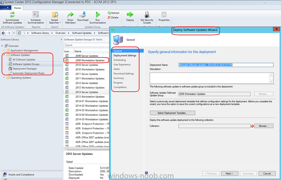 Manage Windows Updates in work environment whith SCCM 2012