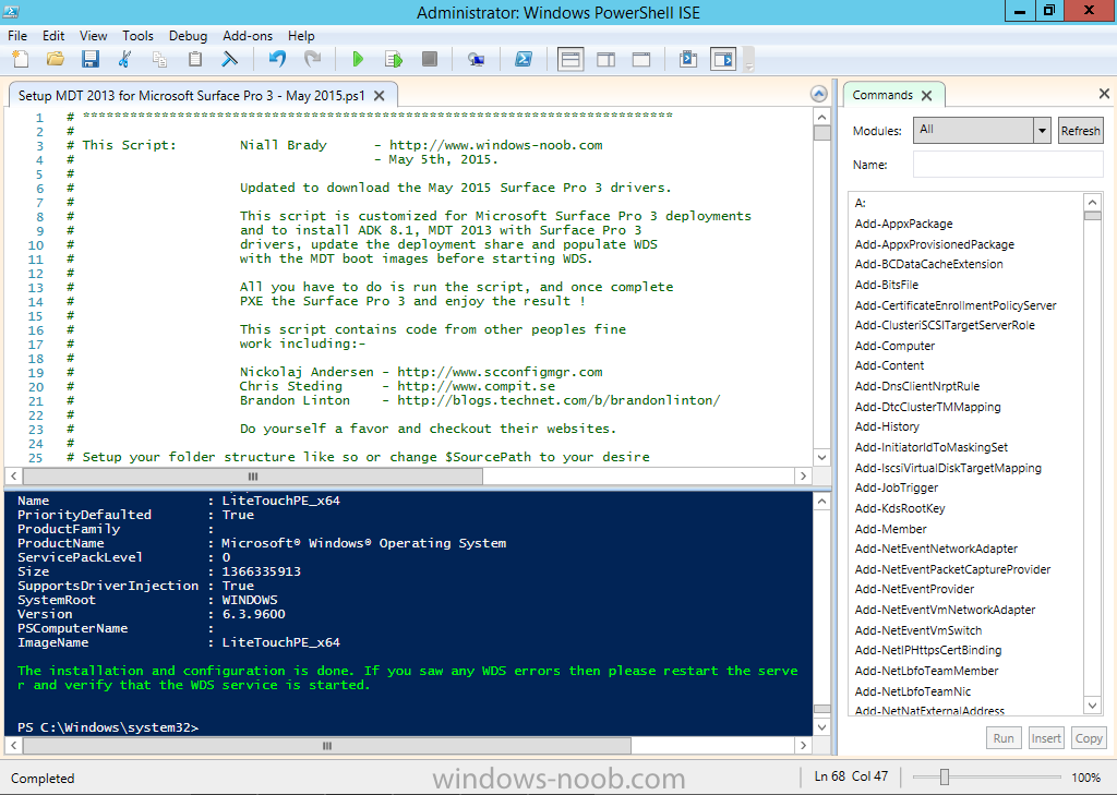 how to run powershell script minimised