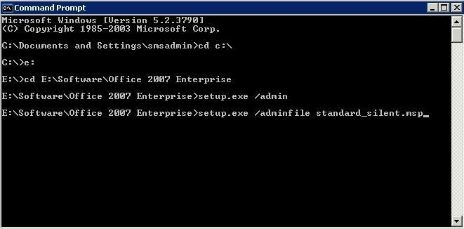 How can I deploy Office 2007 with SCCM - Deploy software