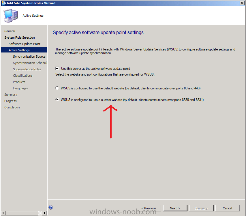 wsus is configured to use a custom website.png
