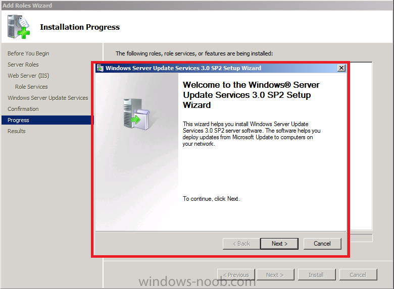 Welcome to the Windows Server Update Services 3.0 SP2 Setup Wizard.png