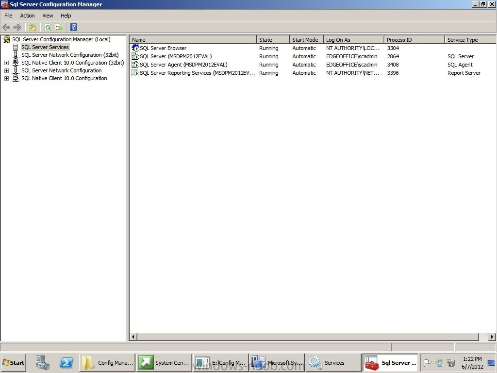 Screen Shot of SQL running services and logon accounts used.jpg