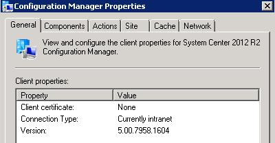 SCCM 2012 Client Certificate (PKI) Value is None