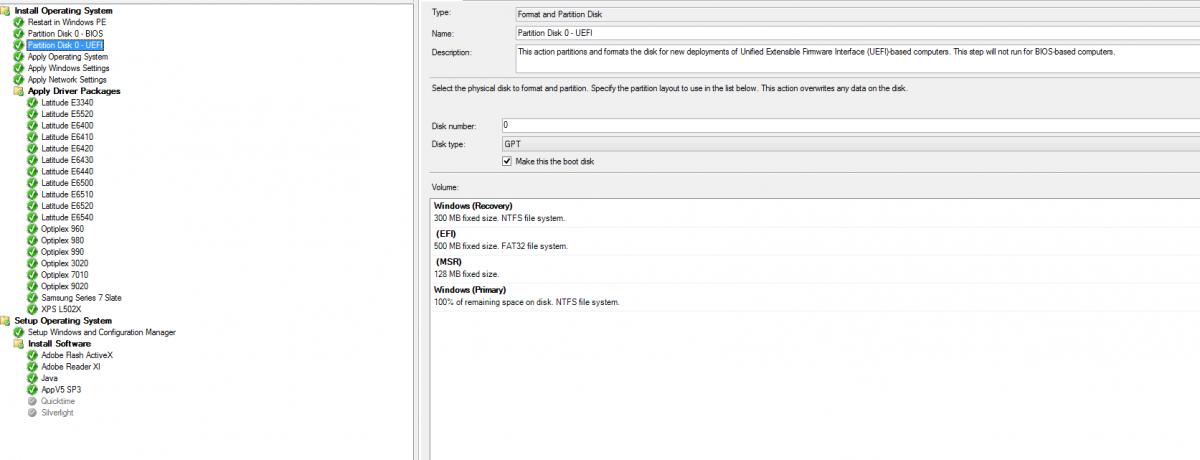 OSD Windows 7x64 and UEFI partitioning - Configuration