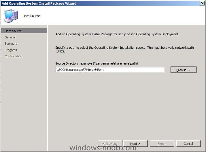 add operating system install package data source.jpg