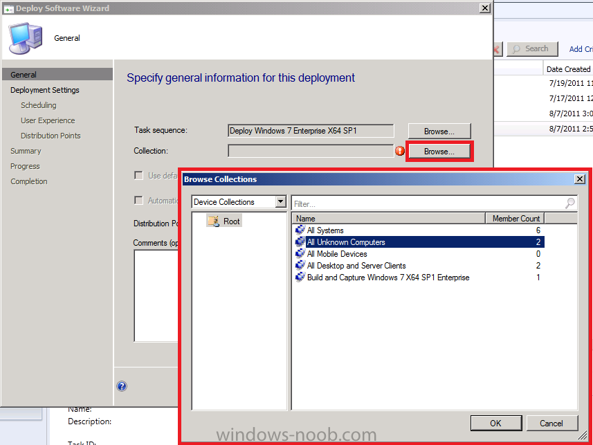 Operating system deployment boot images and distribution point - Using Sccm 2012 Beta 2 In A Lab Part 9 Deploying