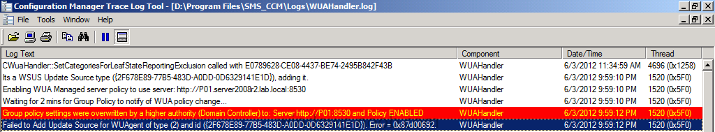 Failed to Add Update Source for WUAgent of type (2) and id.png