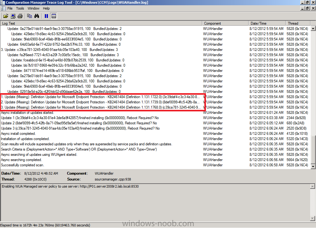update (missing) Definition Update for Microsoft Endpoint Protection.png