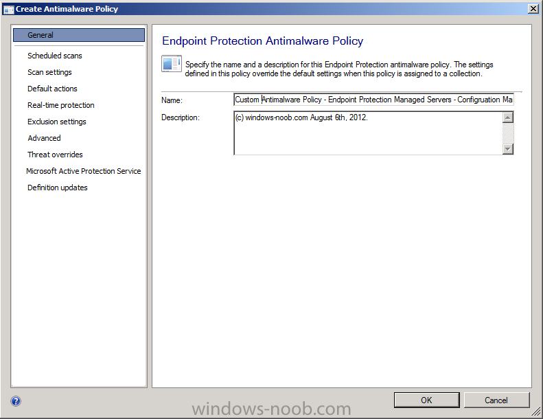 custom antimalware policy - endpoint protection  managed servers - configuration manager.png