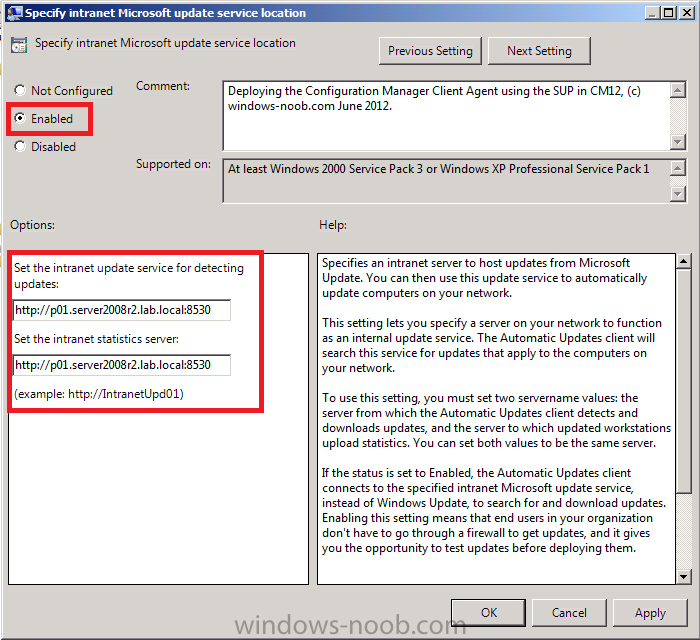 Specify Intranet Microsoft update service location.png