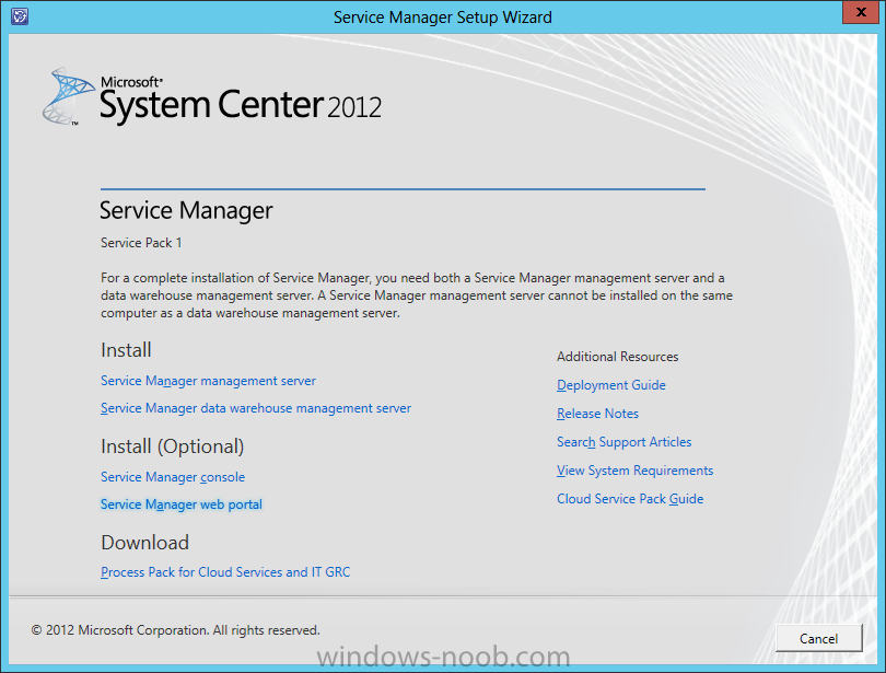 SCSM 2012 SP1 in a LAB – Installation (Part G – Install SharePoint