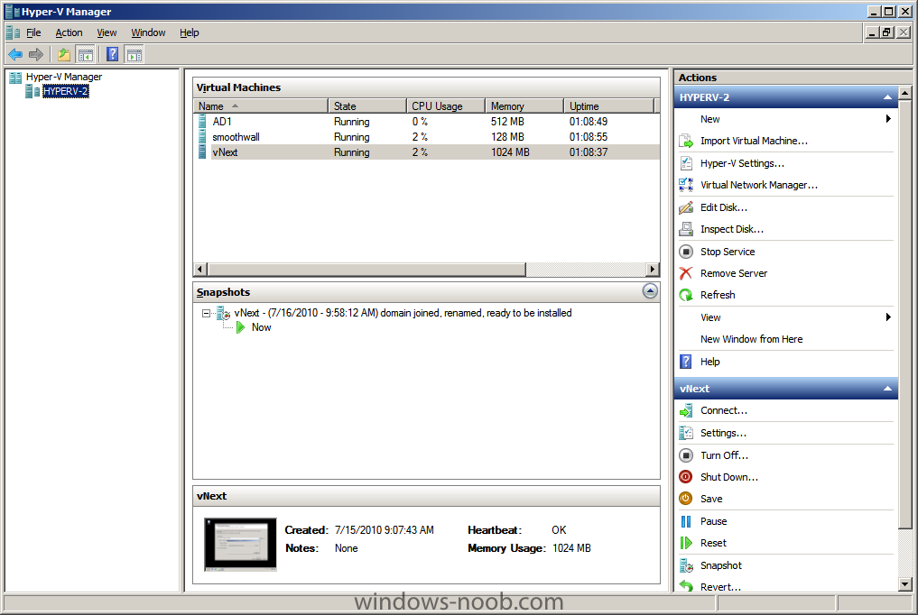 using vNext in a LAB - Part 1  Installation - Configuration
