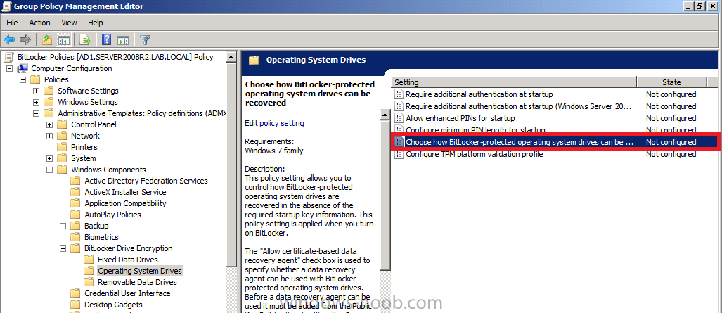 how can I Pre-Provision BitLocker in WinPE for Windows 8