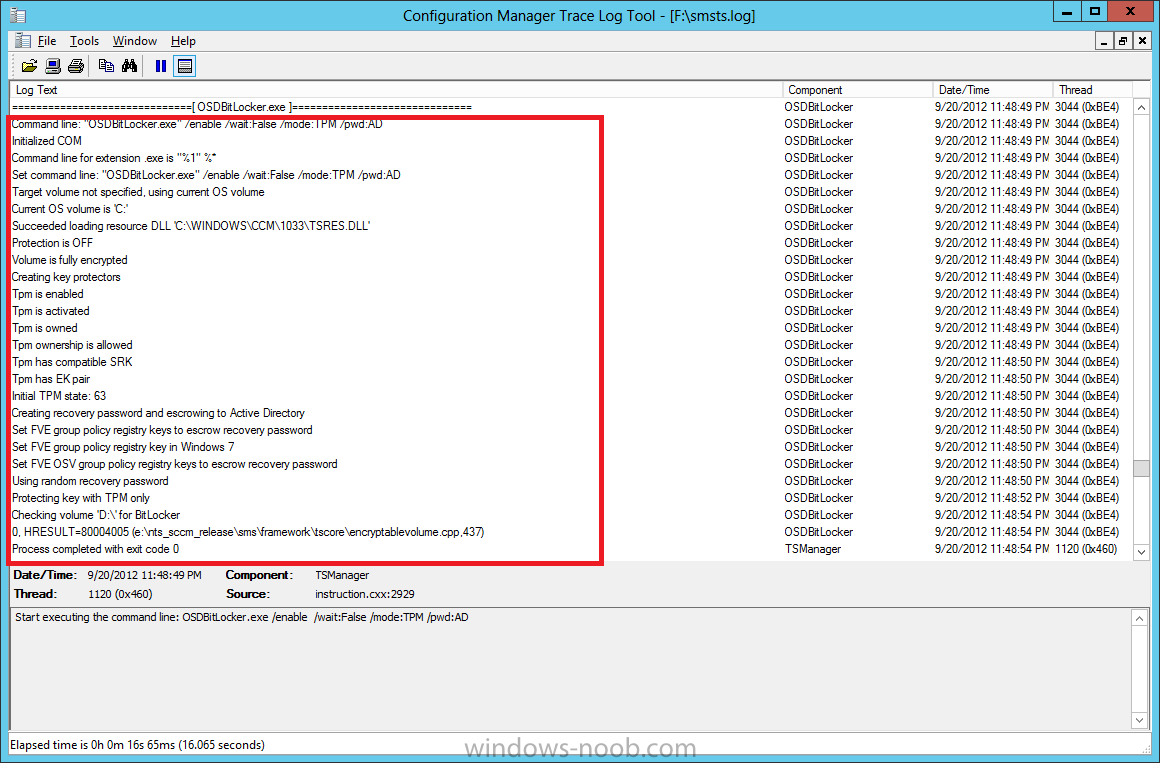 creating recovery password and escrowing to active directory.png