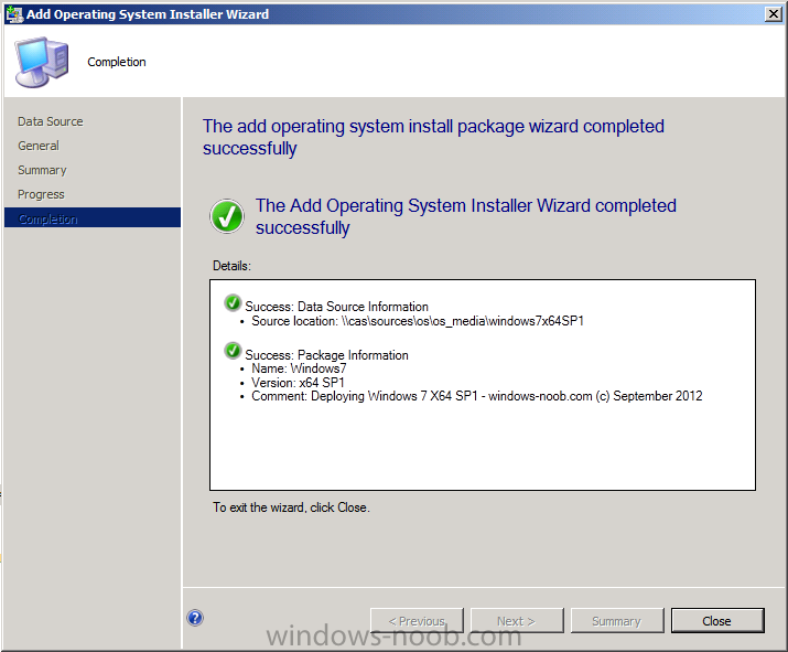 add operating system install package wizard completed successfully.png