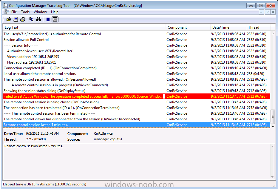 system configuration manager how to connect via windows 10 remotely