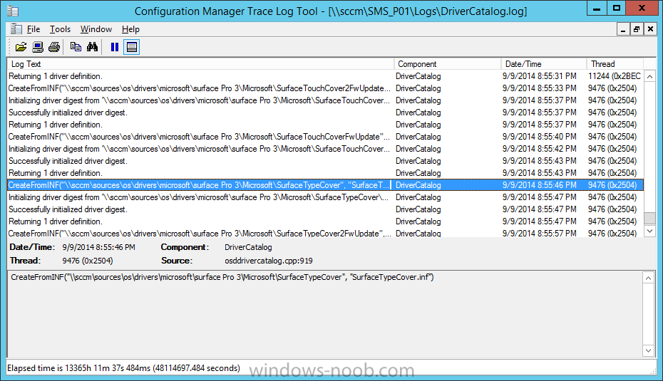 drivercatalog log file in cmtrace.png