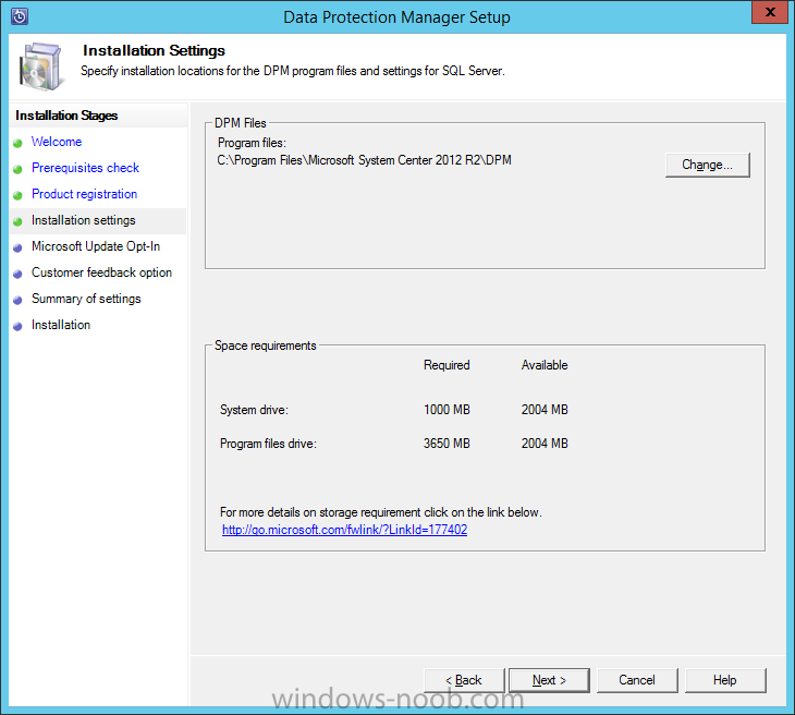 Install DPM12R2 - 08 - Installation Settings.png