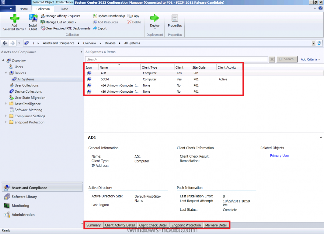 manually install sccm client 2012