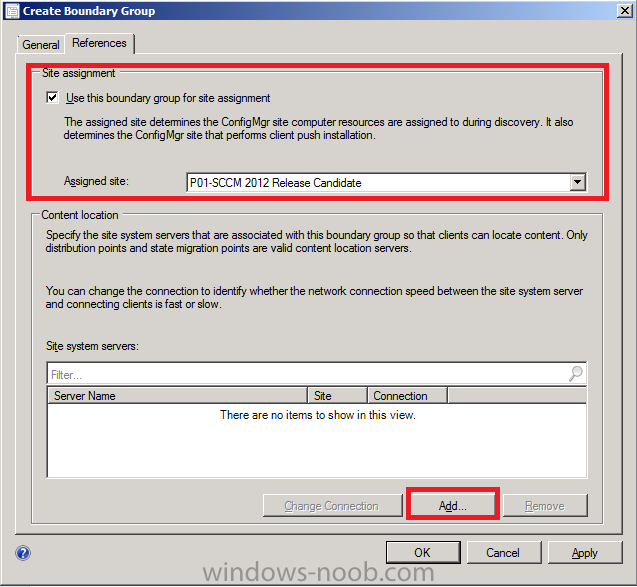 sccm how to delete a boundary group