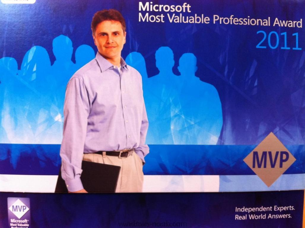 Microsoft Most Valuable Professional Award 2011.JPG