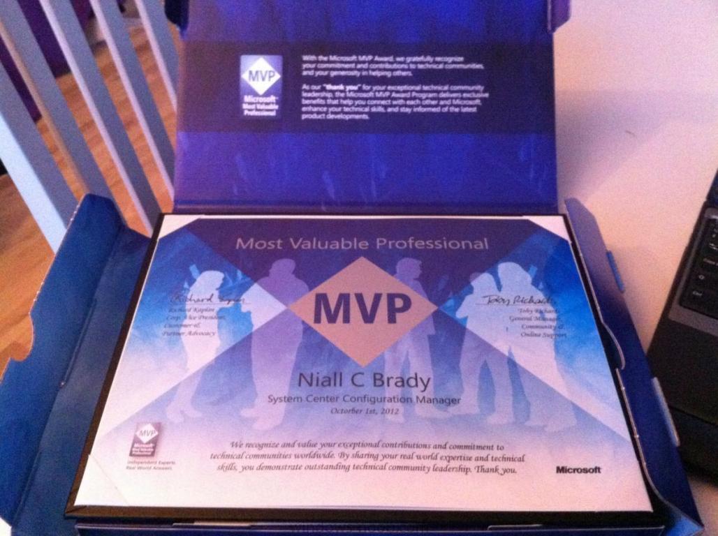 MVP Award 2012 Niall C. Brady.JPG