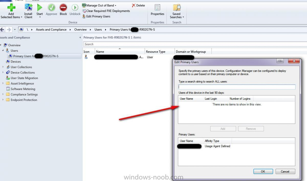 User Affinity/Last Login Info - Configuration Manager 2012